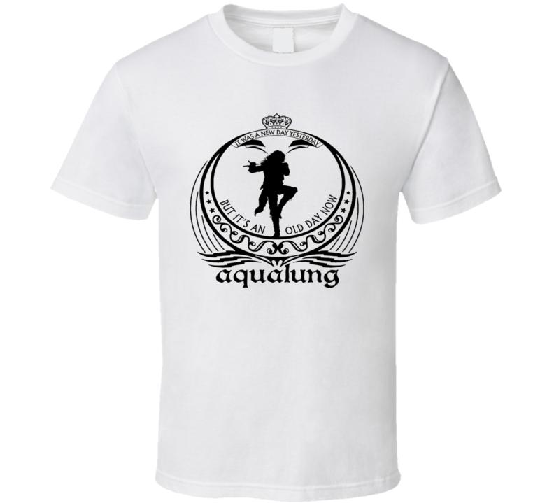 Jethro Tull Rock Band Vintage Ian Anderson Aqualung White T Shirt