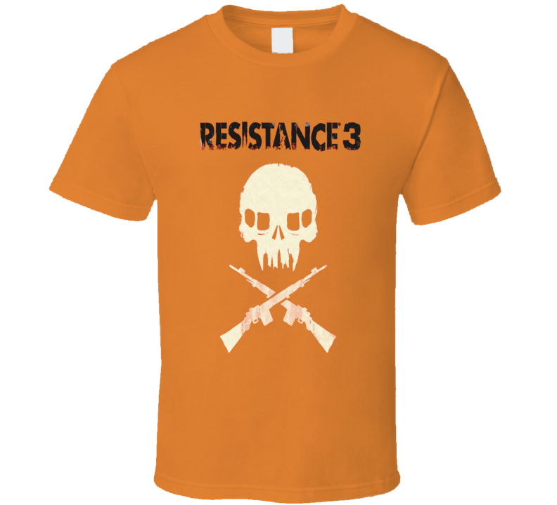 PS3 Resistance 3 Insomniac Game Chimeran Skull T Shirt