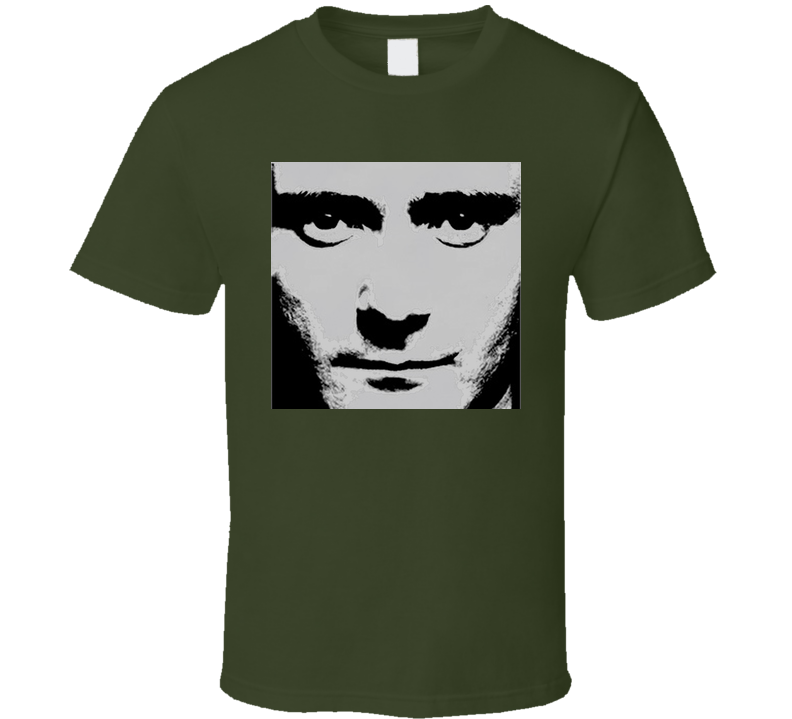Phil Collins Face Value Military Green T Shirt