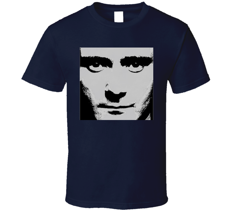 Phil Collins Face Value Navy T Shirt