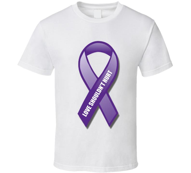 End Domestic Violence Ribbon Love Shouldn't Hurt T Shirt