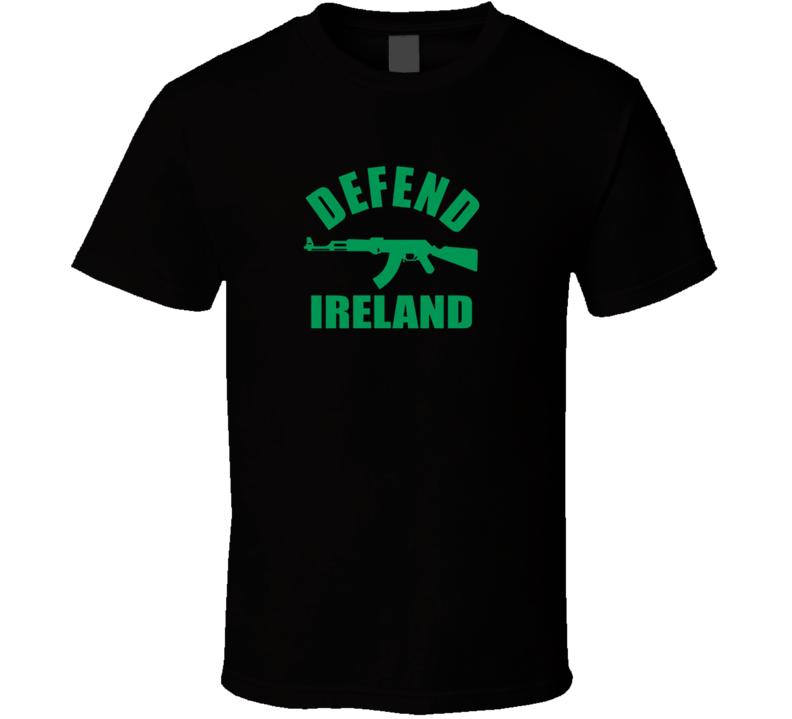 Defend Ireland Irish ST Patricks Shillelagh T Shirt