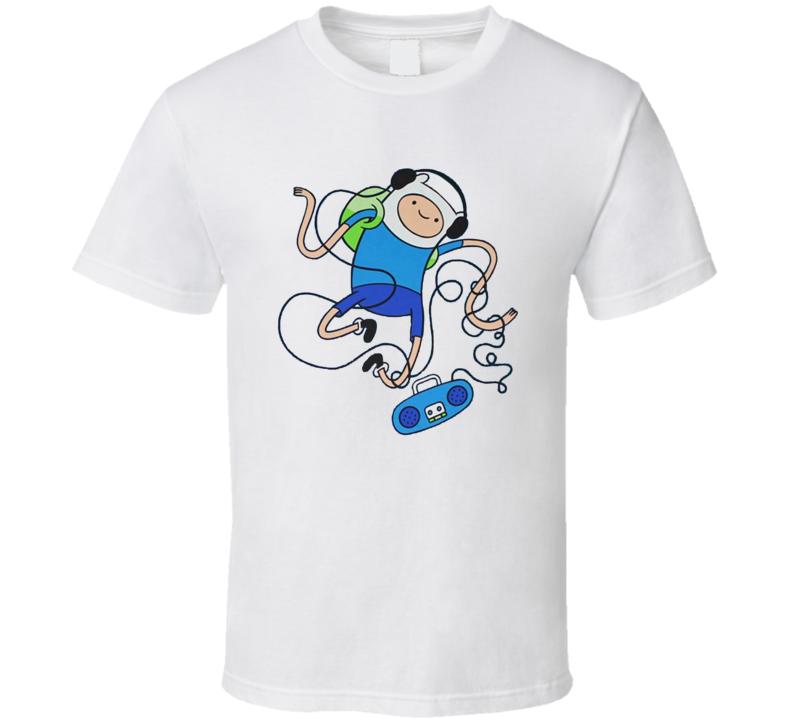 Dancing Finn - Adventure Time White T Shirt