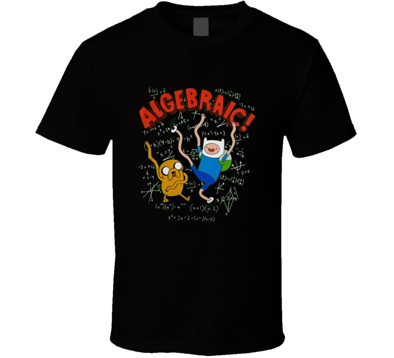 Adventure Time Algebraic Finn And Jake Cartoon Black T Shirt
