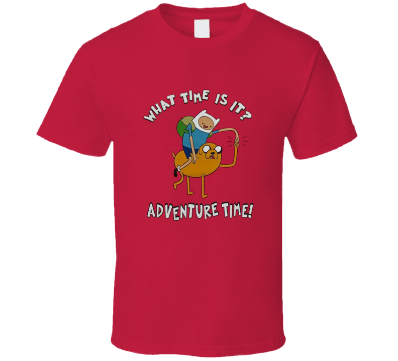 What Time Is It Jake and Finn Adventure Time T Shirt