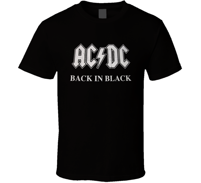 AC DC AC/DC Back In Black Classic Rock T Shirt