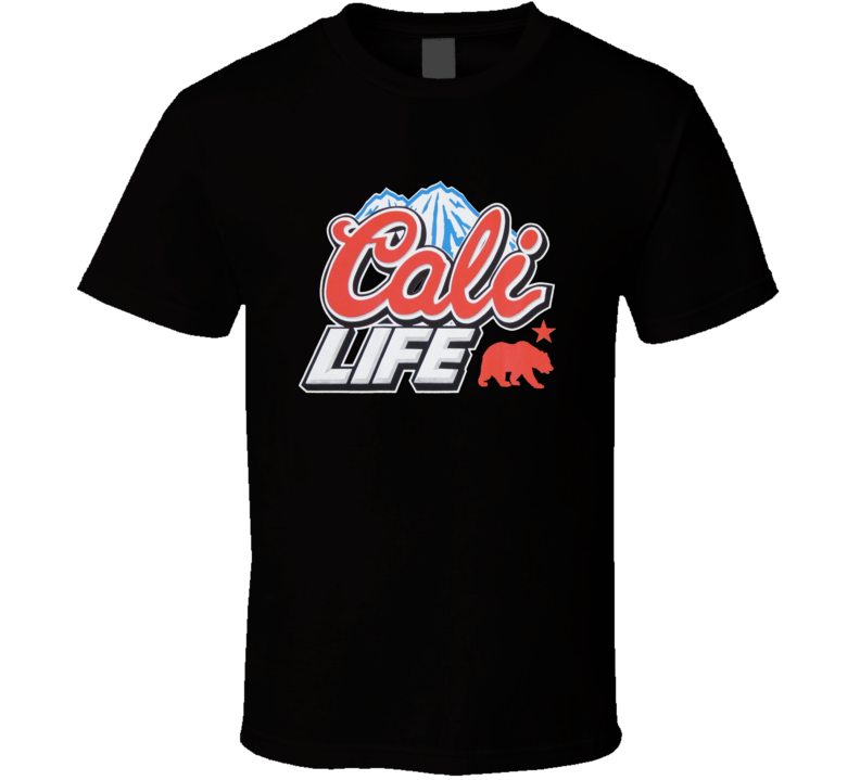 CALI LIFE Coors Light Beer Logo Parody T Shirt