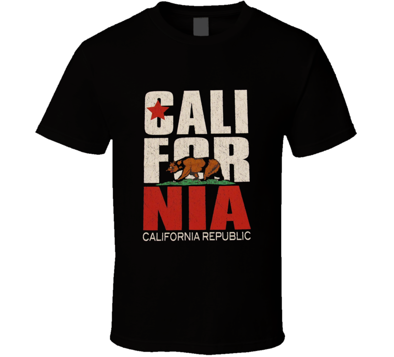 CALIFORNIA CALI REPUBLIC State Flag Bear T Shirt
