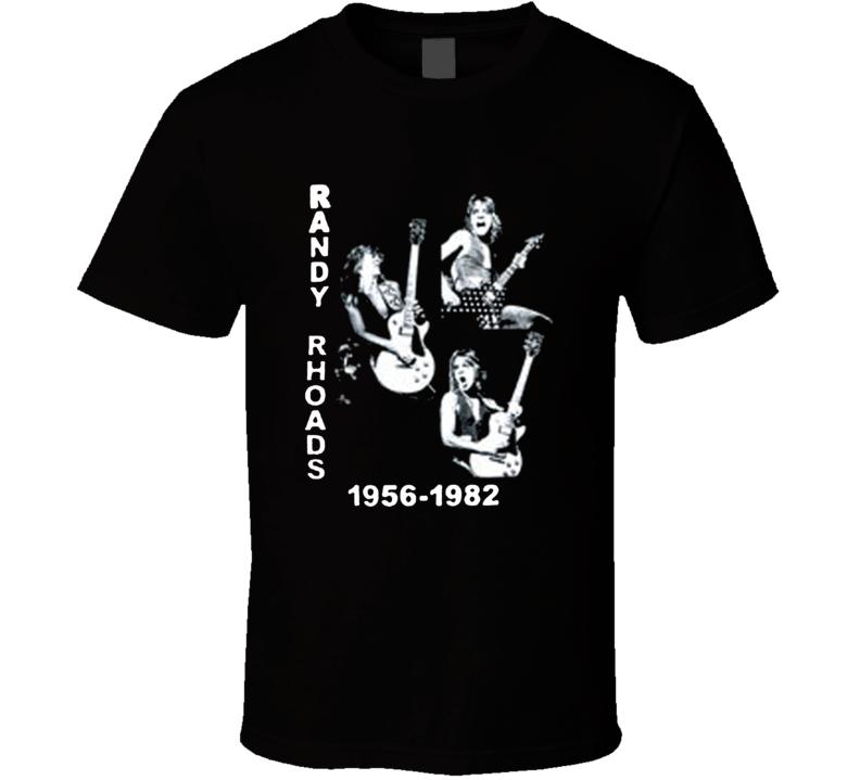 RANDY RHOADS Triple Photos Tribute Rock & Roll Music T Shirt