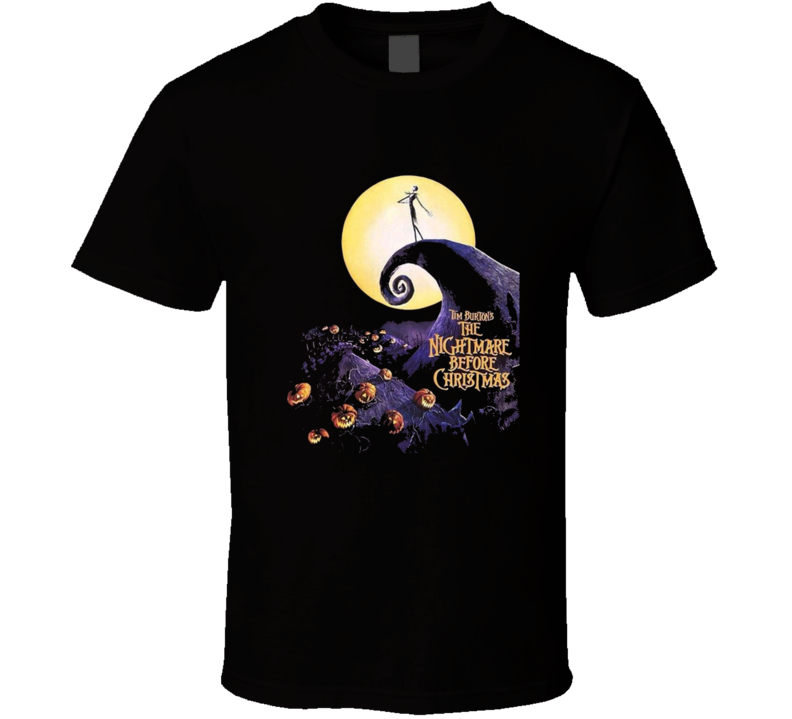Nightmare Before Christmas Poster T Shirt