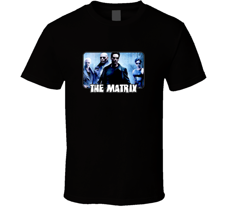 The Matrix Movie Keanu Reeves Group Black T Shirt