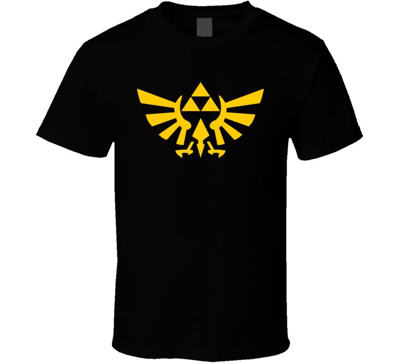 ZELDA LEGEND of ZELDA Triforce Gold Logo Video Game T Shirt