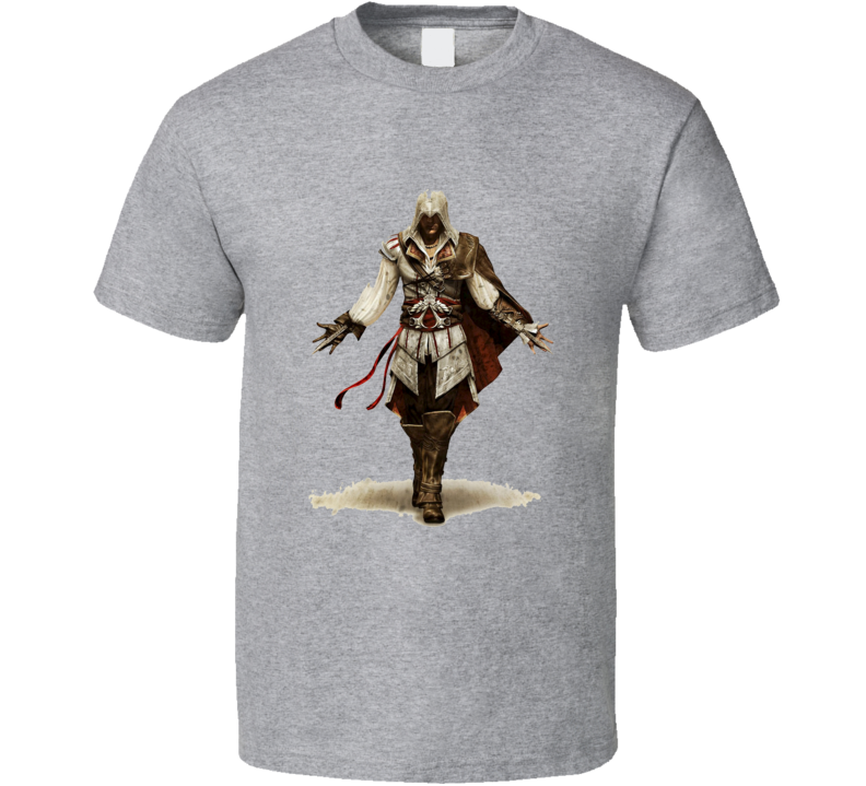 Assassin's Creed 2 Brotherhood Xbox 360 Ps3 Grey T Shirt