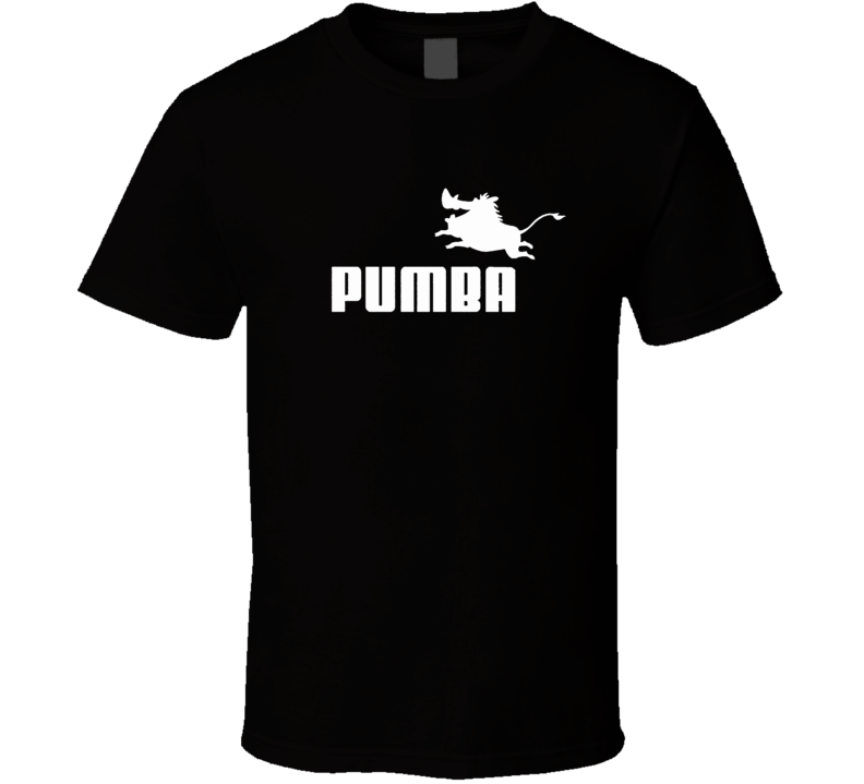 PUMBA FUNNY LION KING MOVIE TIMON SIMBA BLACK T Shirt