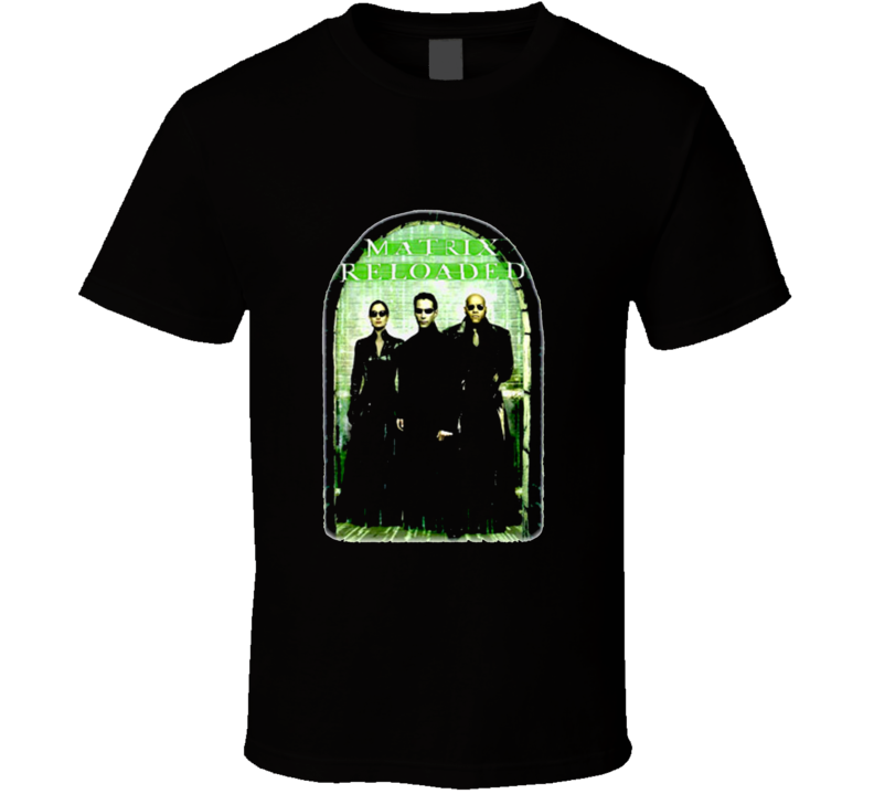 The Matrix Reloaded Movie Keanu Reeves Black T Shirt