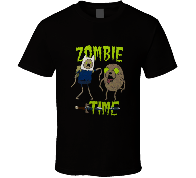 Adventure Time Zombie Finn And Jake Cartoon T Shirt