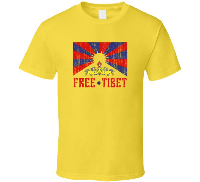 FREE TIBET DALAI LAMA BUDDHISM BEIJING CHINA T Shirt