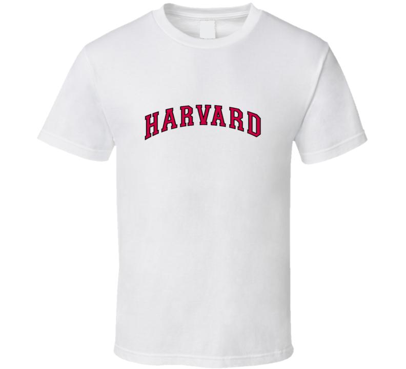 Harvard Vertical Arch Logo T Shirt