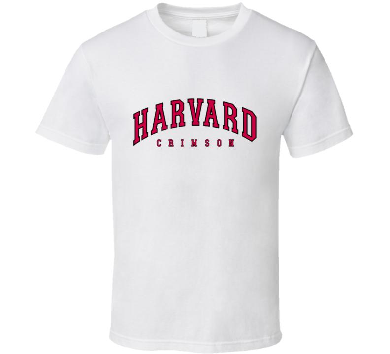 Harvard Crimson Vertical Arch Logo T Shirt