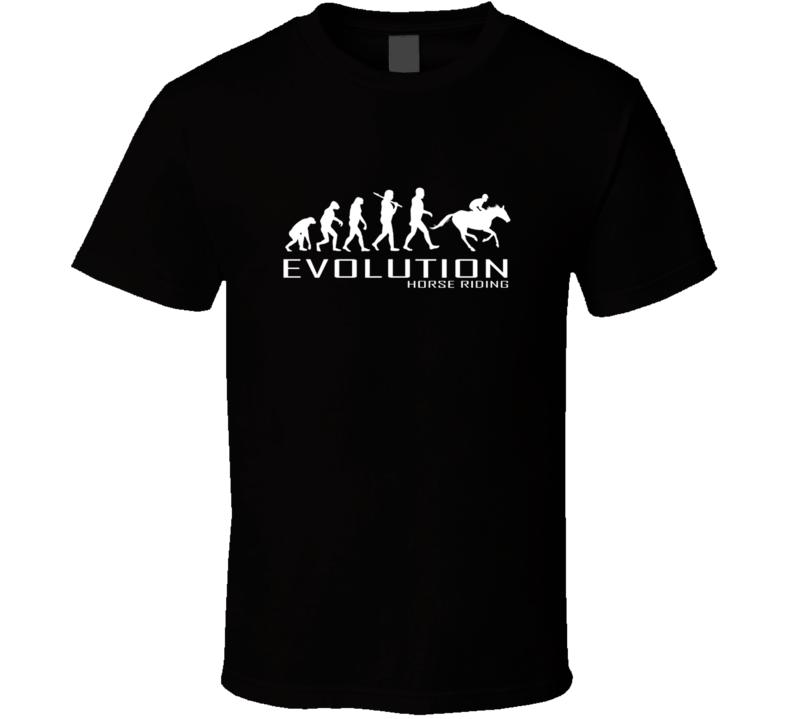 HORSE RIDING RACING APE TO EVOLUTION T Shirt