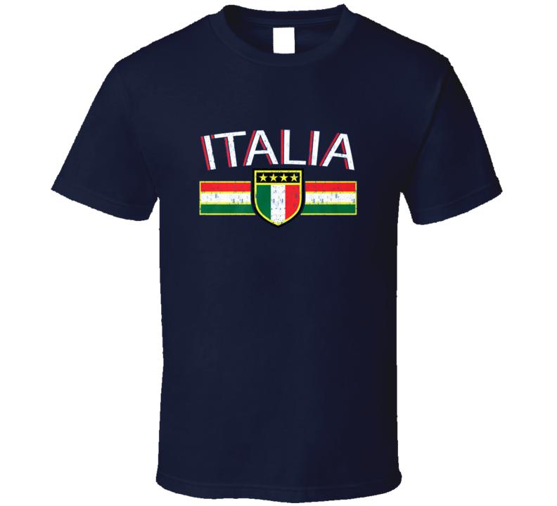 Italia Crest International Soccer Italy T Shirt