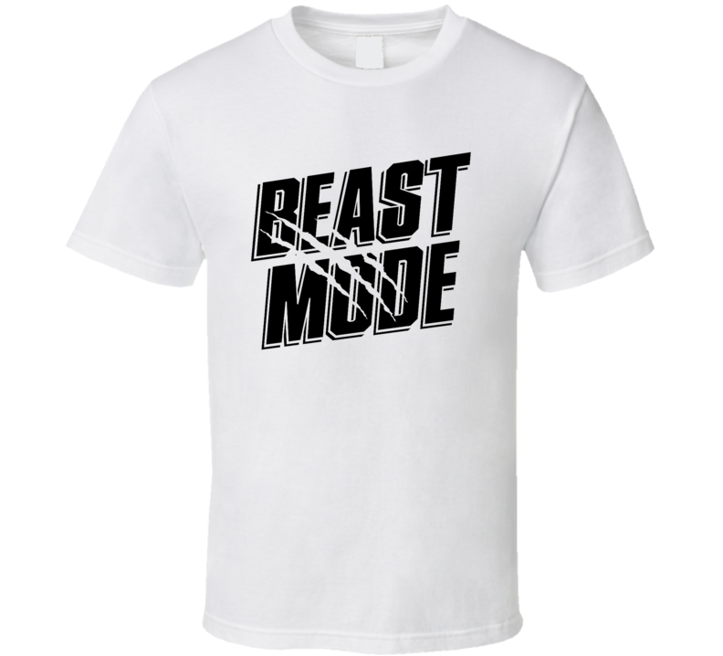 Beast Mode Gym Workout Gear Body Building Crossfit Training MMA Work Out T Shirt