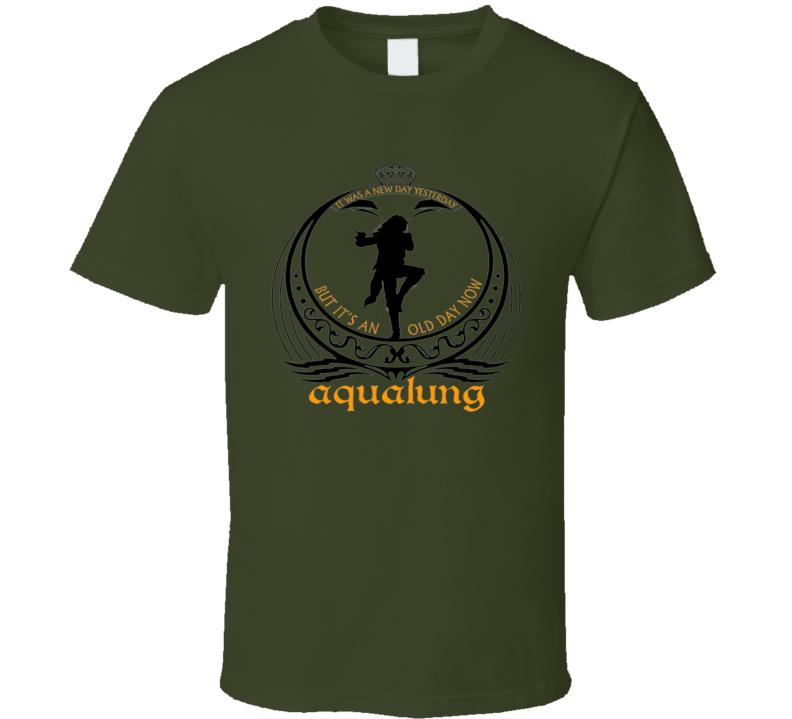 Jethro Tull Rock Band Vintage Ian Anderson Aqualung Green T Shirt