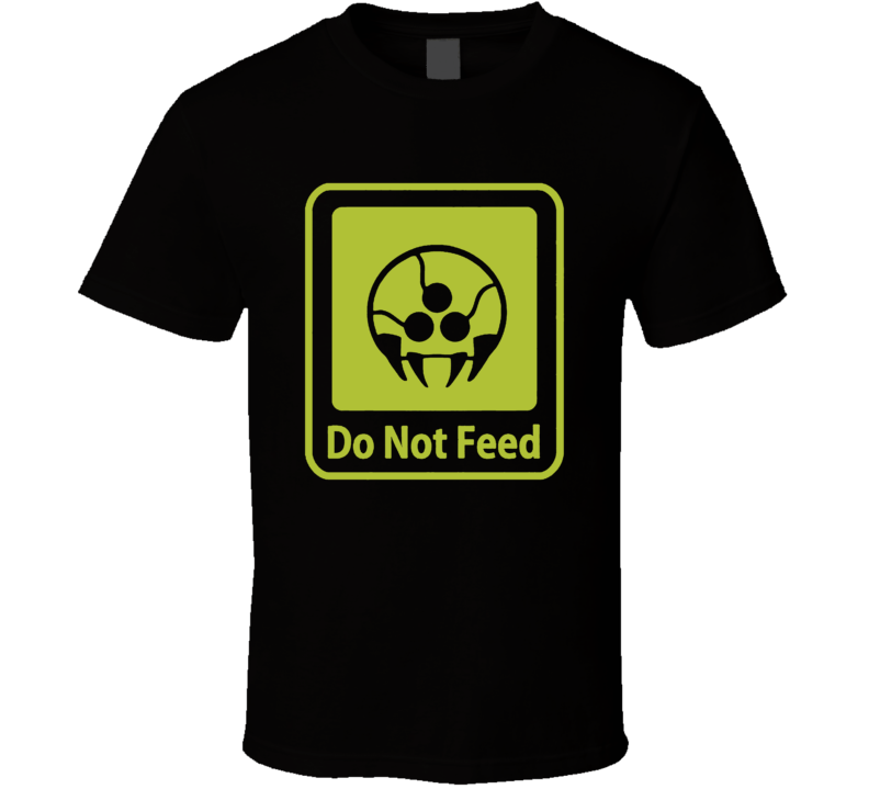 Metroid Tribute DO NOT FEED vidoe game funny green T Shirt