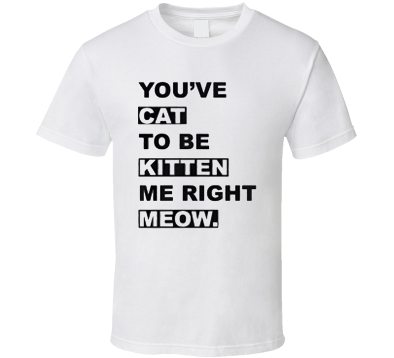You've CAT to be KITTEN me right MEOW Funny pet lover cats meme T Shirt