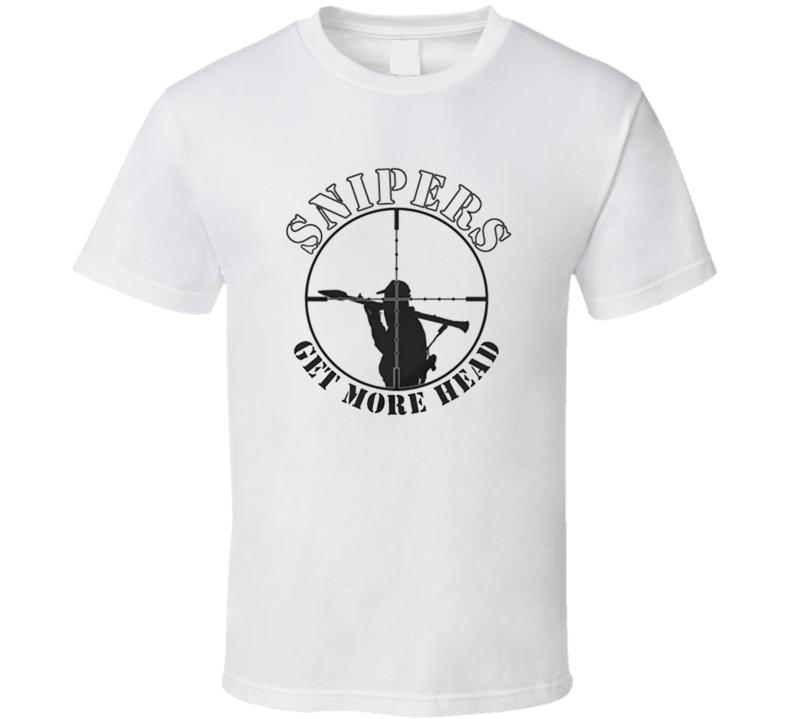 Sniper Head Shooter Rifle Shot Kill US Military T Shirt