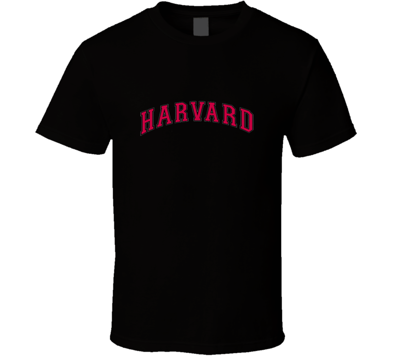 Harvard Vertical Arch Logo Black T Shirt
