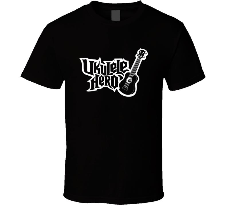 UKULELE HERO GUITAR FUNNY MENS BOYS T Shirt