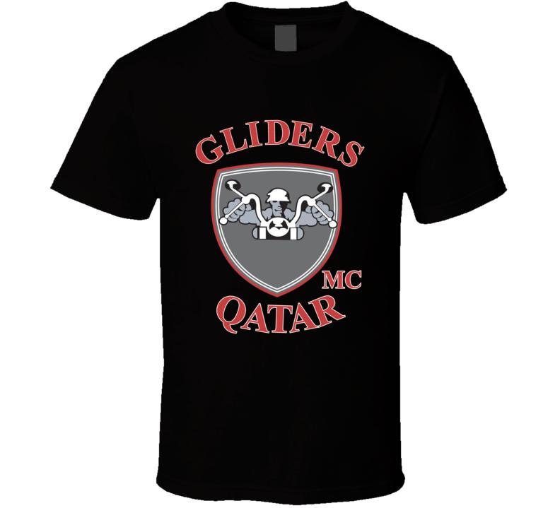 Gliders MC Qatar Black T Shirt
