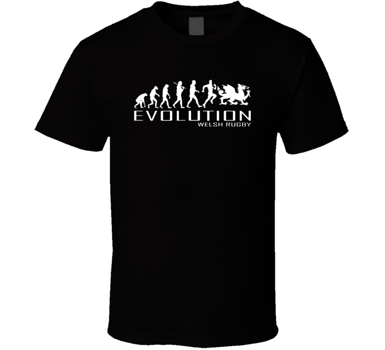 WELSH RUGBY WALES APE TO OF EVOLUTION T SHIRT TSHIRT MENS WOMEN BOYS 6 NATIONS