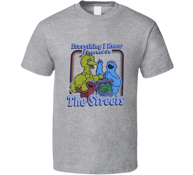 Everything I Know - Sesame Street Funny Joke T Shirt
