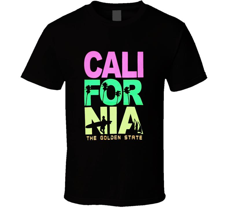 Men Funny California Surfing T Shirt