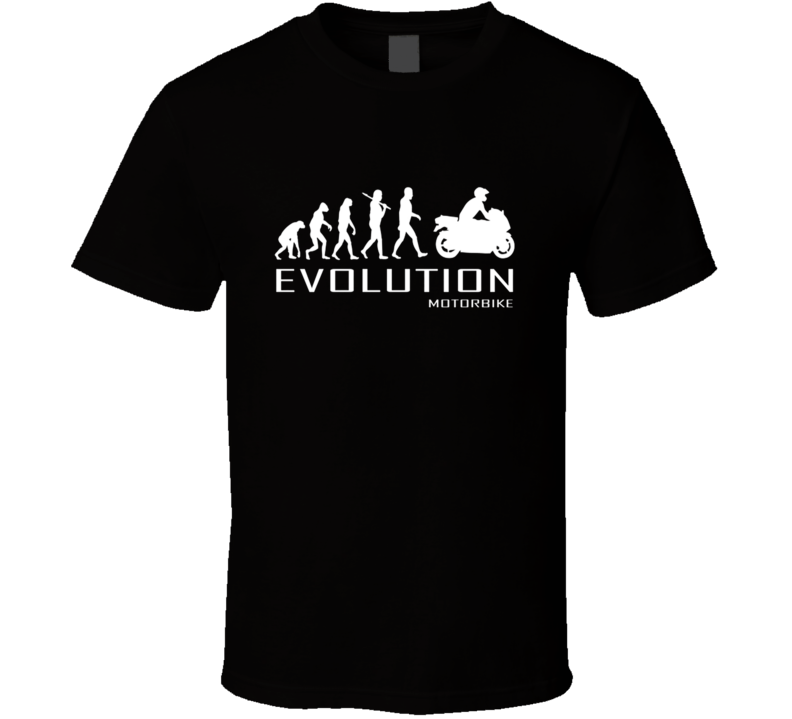 Motorbike Motorcycle Ape To Of Evolution Mens Women Boys Biking T Shirt