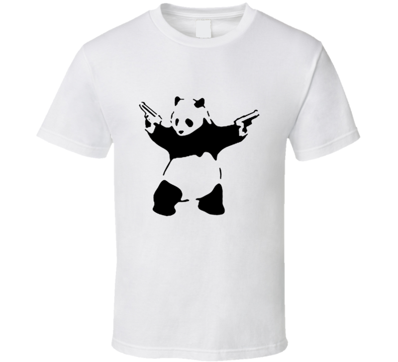 Panda With Guns handgun AR15 SECOND AMENDMENT T Shirt