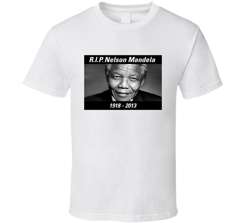 Nelson Mandela South African President Quote Apartheid Civil Rights RIP T Shirt