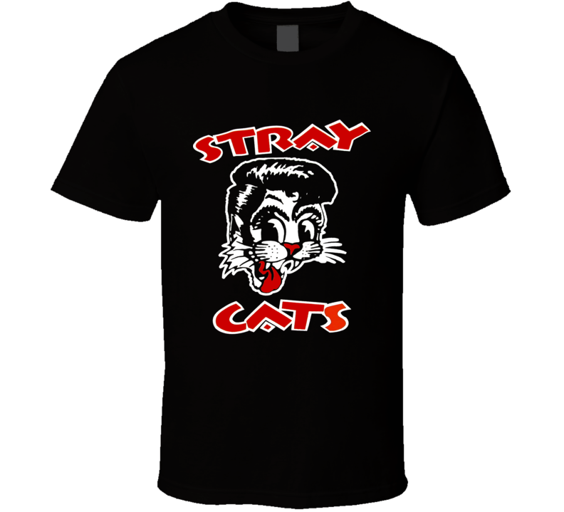 STRAY CATS Rockabilly Cool Cat Tattoo Brian Setzer T Shirt