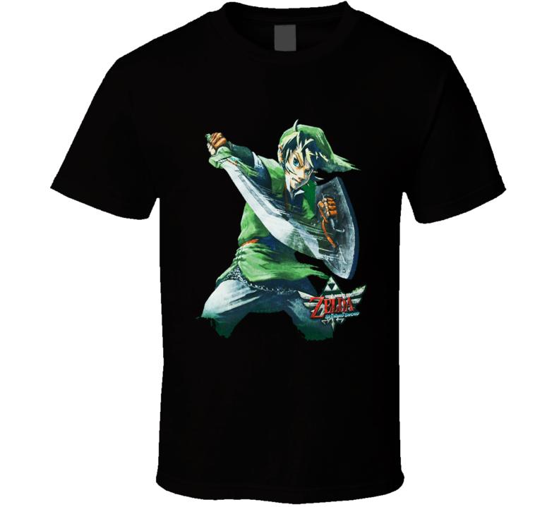 The Legend Of Zelda Skyward Sword Link Master Sword Nintendo Game T Shirt