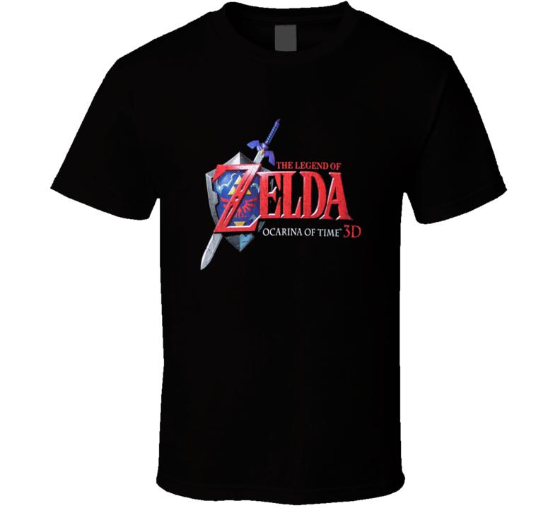 Ocarina Of Time Logo Zelda Nintendo Video Game T Shirt
