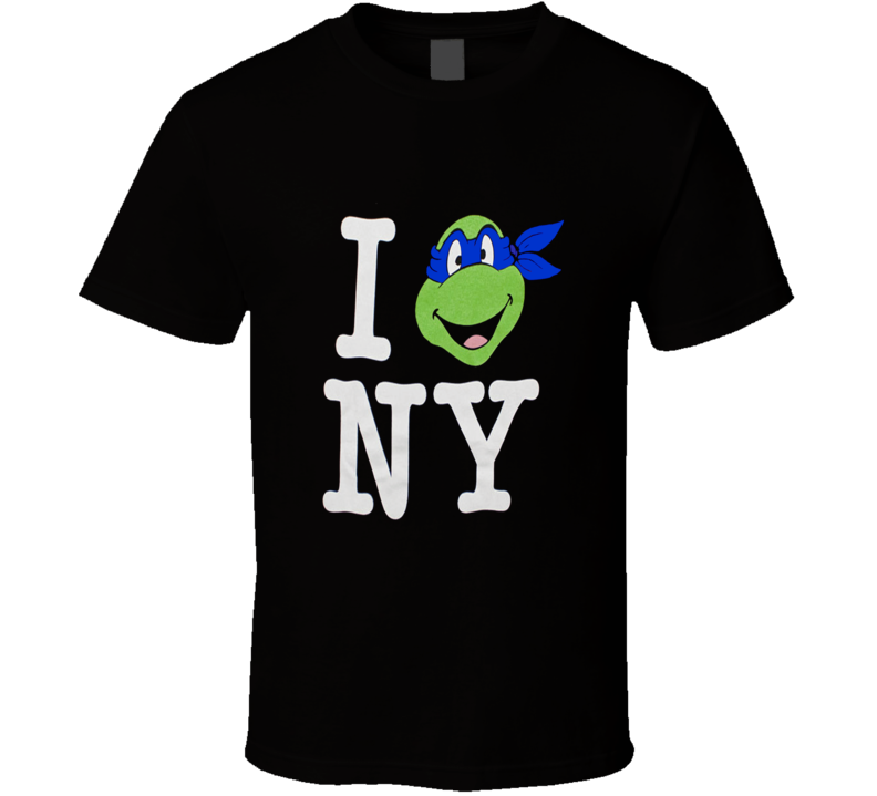 Teenage Mutant Ninja Turtles I Love Ny Leo T Shirt