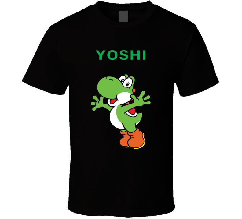 Super Mario Yoshi Nintendo Black T Shirt