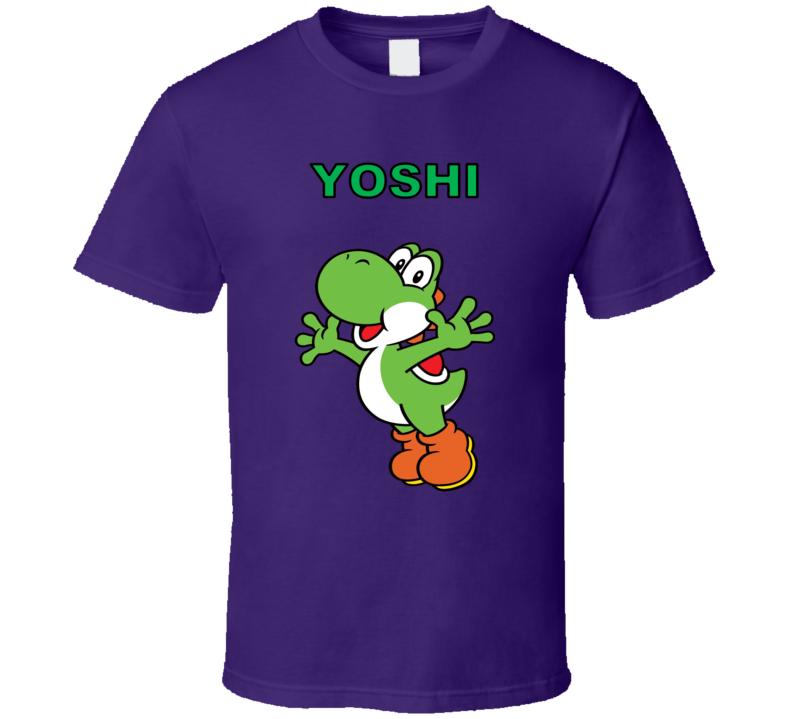 Super Mario Yoshi Nintendo Purple T Shirt