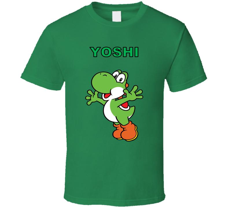 Super Mario Yoshi Nintendo Green T Shirt