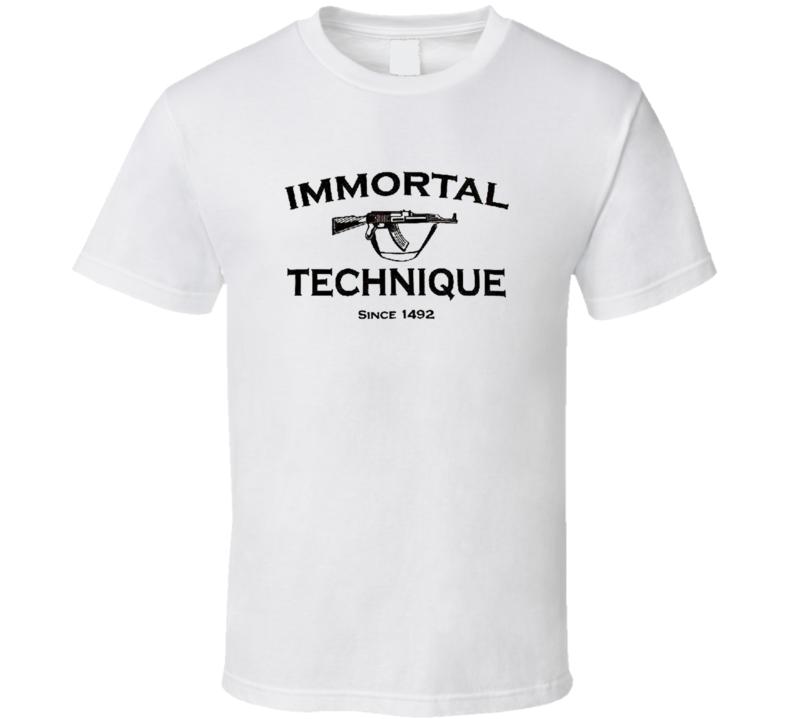 IMMORTAL TECHNIQUE Hip Hop Rap Alternative Underground F & B T Shirt