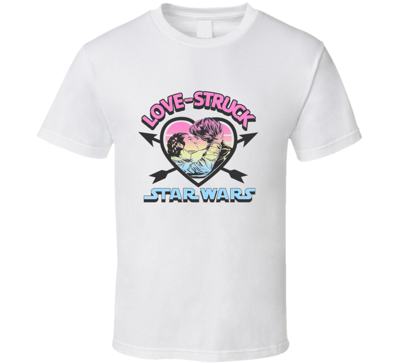 Love struck star wars Hans and Leia T Shirt