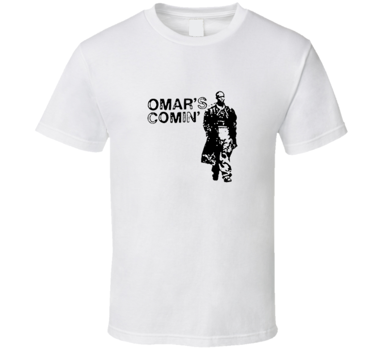 Omar Little Comin Hustle Wire Any Color T Shirt