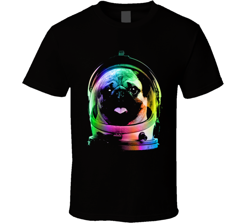 pug in space T Shirt